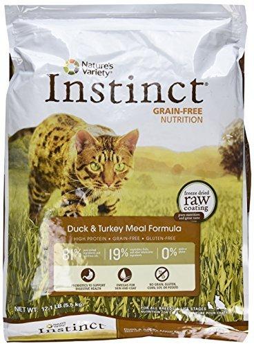 ba84781fac Nature s Variety Instinct Grain-Free Duck   Turkey Meal Formula Dry Cat Food