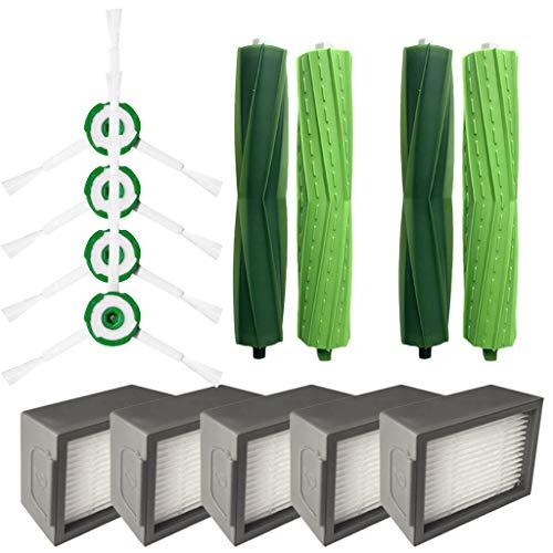 11 Stück Seitenbürste Filter Borstenbürste,Ewendy Ersatz für iRobot Roomba i7 i7+/i7 plus E5 E6...