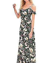 29ab816d1 Correa Atractiva De Las Mujeres del Verano Fuera De Los Vestidos del Hombro  Vestido Maxi del