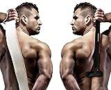 Rückenhaarrasierer Körperhaar- und Rückenrasierer Nass Rasierer mit Arm-Verlängerung für Männer Bonus zurück Wäscher und Anleitung Buch