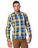 Shine Herren Freizeit-Hemd, Kariert Blau Brown Sugar Gr. L, Braun - Brown Sugar