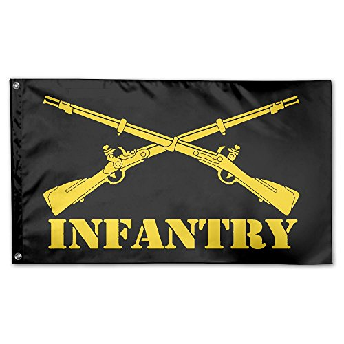 JUMEOW Armee Infanterie AST Insignia Outdoor Flagge 3 'x 5' für Werbung/Banner/Outdoor/Indoor-/Aktivitäten/Home/Jahrestag/Party Decor/Urlaub/Seasonal, Etc, Unisex, Army Infantry-4, One Size -