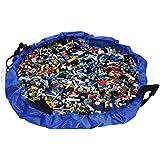 Portable Juguetes Almacenamiento Bolsa Organizador de Juguetes Juego Alfombra para Lego Ninos Toy Storage Bag Talla Grande Diametro 150cm by Webeauty (Azul)