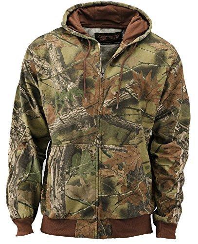 Trail Crest Herren Camo Zip Full Zip Up Hooded Sweatshirt Jagd Jacke, Herren, camouflage Crest Pullover Sweatshirts