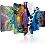 murando Quadro 200x100 cm 5 Pezzi Stampa su Tela in TNT XXL Immagini Moderni Murale Fotografia Grafica Decorazione da Parete Astratto h-C-0014-b-n