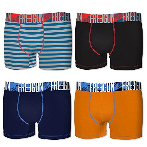 Freegun Herren Boxershort mehrfarbig mehrfarbig Orange/Noir/Rayures