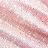 Stoff Meterware Baumwolle rosa Streublümchen