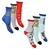 6er Pack Jungen Socken Strümpfe Paw Patrol mit vielen verschiedenen Muster und Designs (Paw Patrol Mix 6, Schuhgröße EUR 23-26)