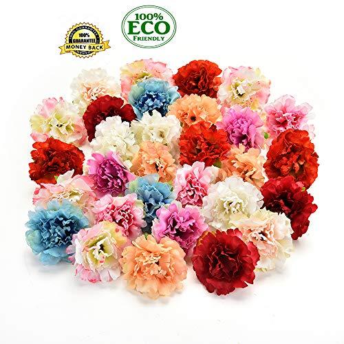 wholesale Seidenblumen, Gänseblümchen, Hochzeitsdekoration, Kunstblumen, Kunstblumen, handgefertigt, Weihnachtsschmuck, 5 cm, 30 Stück Mehrfarbig ()