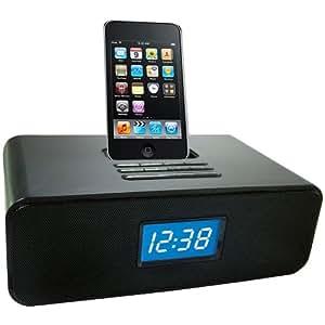 Ottavo Speaker Docking Station with Alarm Clock for iPod - Black