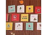 Yyanliii Mehrere 1 Set / 96 Stück Grußkarten Frohe Weihnachten Karten mit Umschlägen (Bunt)