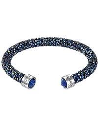 Swarovski Damen-Armreif Swarovski Crystaldust Bracelet Edelstahl Kristall blau Rundschliff   - 5255911
