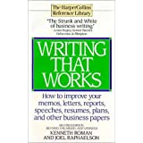 Writing That Works - Second Edition by Kenneth Roman (1995-01-03)