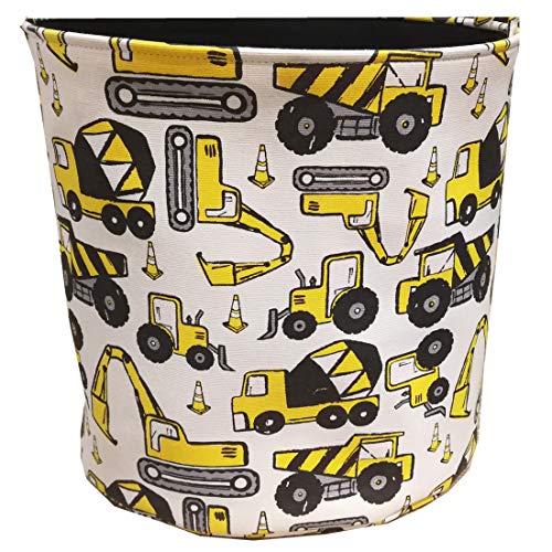 FamyFirst Aufbewahrungskörbe für Kinder, Baumwolle, Cartoon-Design, niedliche Spielzeug-Aufbewahrungskörbe für Kinder, Wäschekorb für Kinderzimmer, Spielzeug, Organizer für Jungen und Mädchen, mittelgroß Engineering Car