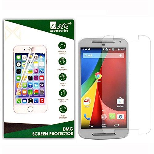 Dmg Tempered Glass For Motorola Moto G2 (No Fingerprints Anti-Scratch Oil Coated Washable)