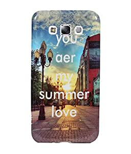 Fuson Premium Cards Designer Silicon Back Case Cover For Samsung Galaxy E7 SM-E700 - SS3