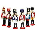 6 pezzi per set Decorazioni natalizie Schiaccianoci Soldato in legno Puppet Anvor® 12cm Ornamento decorativo in legno Decorazione per la casa