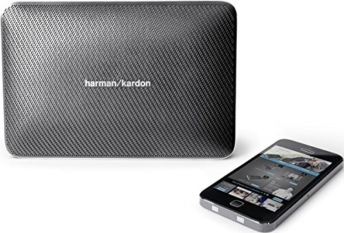 Harman/Kardon Esquire 2 Slimline Tragbares Aufladbares Bluetooth Wireless Lautsprechersystem mit Integrierter 360 Grad Freisprecheinrichtung, Echo- und Geräuschunterdrückung - Grau