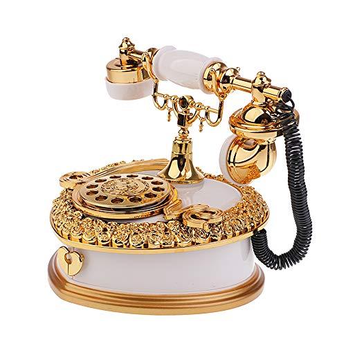 Contenitore di Monili del Telefono del Quadrante A Forma di Cuore d'Annata di Scatola di Musica, Regalo del Giocattolo di Compleanno della Decorazione del Giocattolo di Regalo per I Bambini,White
