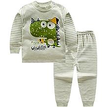01bf4d19ce Blaward Pijama Dos Piezas - Cuello Redondo - Manga Larga - para niño Dormir  Pijamas Largos