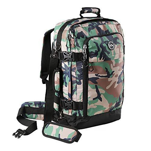 Cabin Max Metz Plus hochwertiger wasserfester Rucksack - Handgepäck 55 x 40 x 20 cm, 44 L perfekt für Ryanair - Messenger Tasche mit abnehmbarem Schultergurt - Organisationsfach (Green Camo)