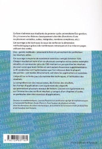 Analyse Mathématiques Licence d'Éco-Gestion : Cours Méthodes Exercices Corrigés Exemples Contre-Exemples