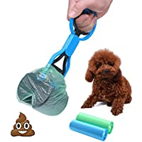 Cinoton Pet Waste Shovels Cleaning Tool Pooper Scooper Handle Grabber Pick up Jaw for Dog and Cats (Blue)