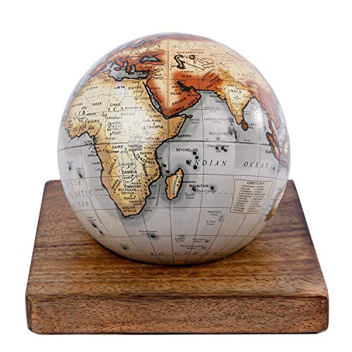 Globus Weltkugel Antik Stil Wandkarte Welt Weltkarte Vintage Historisch Erde von Haus der Herzen