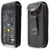 caseroxx Handy-Tasche Ledertasche mit Gürtelclip für CAT