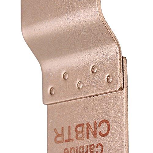 cnbtr 32mm Breite Gelb E Typ Hartmetall oszillierendes Körnung Quick Release Sägeblatt-Set von 5