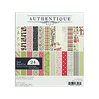 Authentique Paper Double-Sided Cardstock Pad, Multi-Colour, 16.51 x 15.24 x 0.76 cm