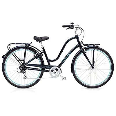 Electra Townie Commute 8D EQ Damen Fahrrad 28 Zoll Beach Cruiser Rad Beleuchtung, 54427, Design Schwarz - Galaxy Black