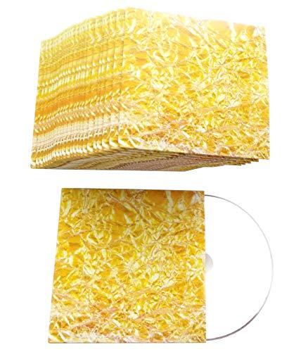 CD Hüllen aus Karton in Design Gold-Folie-Gelb bedruckt, CD Kartonstecktaschen (Papphüllen) für je 1 CD/DVD/BD-R Rohling - 50er Pack (Slim Dvd-hüllen Farbig)