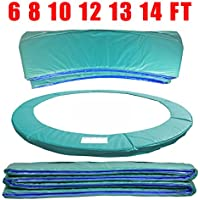Greenbay 10FT 305cm Premium Replacement Trampoline Surround Pad | UV resistant PVC top | EPE foam(thickness:15mm, width:300mm) | Safety Guard Spring Cover Padding Pads Green for 6 poles Trampoline