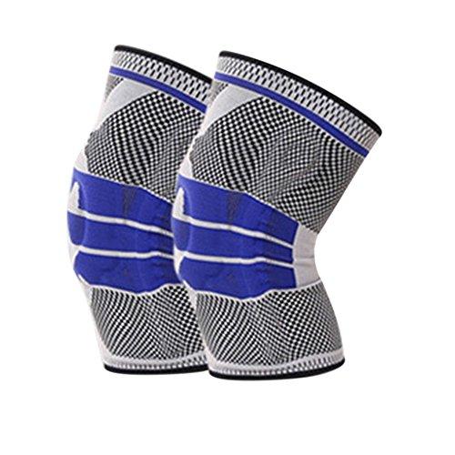 PERG Rate 2pezzi elastico lunghi Ginocchiere supporto per corsa ciclismo sport Artrite Recover calda Protector, 4, XL