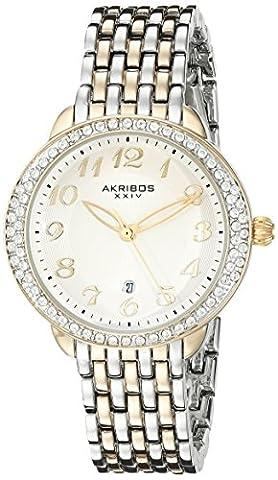 Akribos XXIV Women's AK831TTG Quartz Movement Watch with Silver Dial