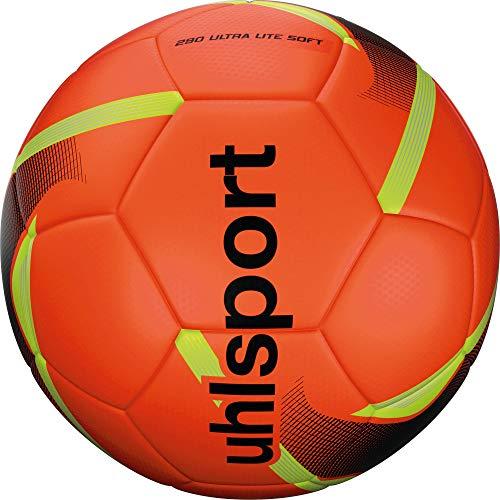 Uhlsport Unisex Erwachsene 290 Ultra Lite Soft Ball Fussball Rot Schwarz Fluo Gel 5