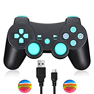 Wireless PS3 Controller, Dual Vibration Sixaxis Gamepad Joystick für Sony Playstation 3 PS3