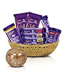 #9: Cadbury Assorted Chocolates Diwali Tokri, 361g - With Tea light