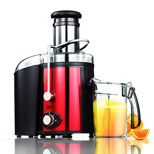 SKG Premium High Yield Stainless Steel Juice Extractor With Anti-Clog Feature - Maximum Juice Extraction from Soft & Hard Fruits and Vegetables - Wide Mouth Centrifugal Juicer Machine - Fountain Juicer Extractor - Small Kitchen & Home Appliances - Multi-Purpose Electric Juicers for Vegetables and Fruits - Vegetable Juice Extractor Machine - Electric Juicer Blender - Professional Juice Extractor - Electric Citrus Juicers - Orange Juice Machine - Fruit and Vegetable Juicer - Apple Juice Maker