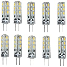 10X Bombilla Lámpara G4 3014 SMD 24 LED Luz Blanco Cálido 1.5W DC 12V Bright®