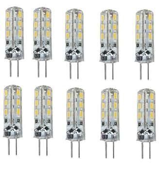 10x G4 1.5W LED Ampoule Blanc Chaud 2800-3200K LED bulb light 150-180LM LED SMD Lumière du jour DC 12V Bright®