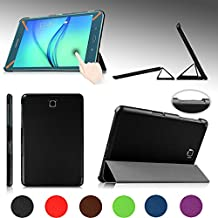 """e-PlanetPro Samsung Galaxy Tab A 8.0"""" Case - Luxury Ultra Slim Protective Shell, Shockproof, Drop Resistance, Anti-Dust Cover for Samsung Galaxy Tab A 8.0"""" (Wi-Fi, 3G/4G/LTE all models) with Sleep/Wake Up function! BLACK"""