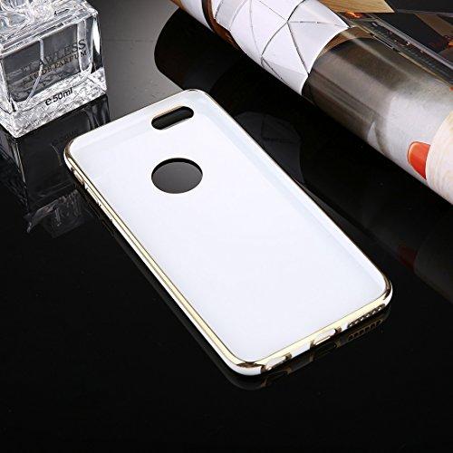 Fall für iPhone 6 u. 6s, galvanisierender weicher TPU schützender Abdeckungs-Fall für Apfel iPhone 6S by diebelleu ( Color : Dark blue ) White