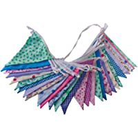 10m Floral Mix - double sided fabric bunting