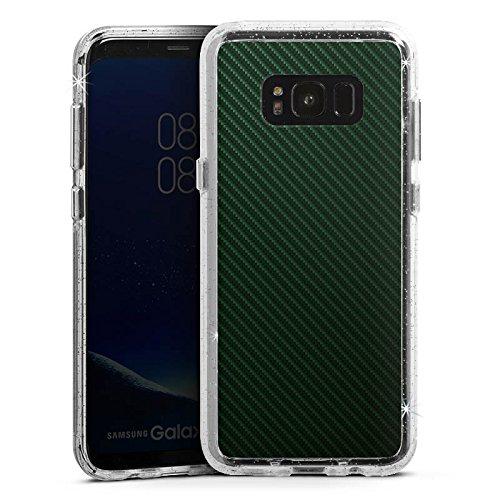 DeinDesign Samsung Galaxy S8 Bumper Hülle Bumper Case Glitzer Hülle Schwarz Black Stripes -
