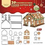 Weihnachten Ausstechformen Edelstahl Ausstecher Set für Plätzchen und Tortendekorationen - Lebkuchenhaus Haus Form - Plätzchenformen Ausstechform für Keks #1