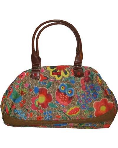 Oilily Funky Flowers Bowling Bag - Khaki - Funky Flower Handtasche