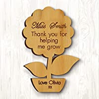 Howson London Personalised Thank you Teacher Gift Wooden Fridge Magnet Pre School Nursery Leaving Graduation Present