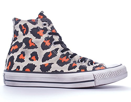 Converse  Chuck Taylor All Star Print Hi, Baskets pour femme marron Beige/Marrone/Arancione * Multicolore